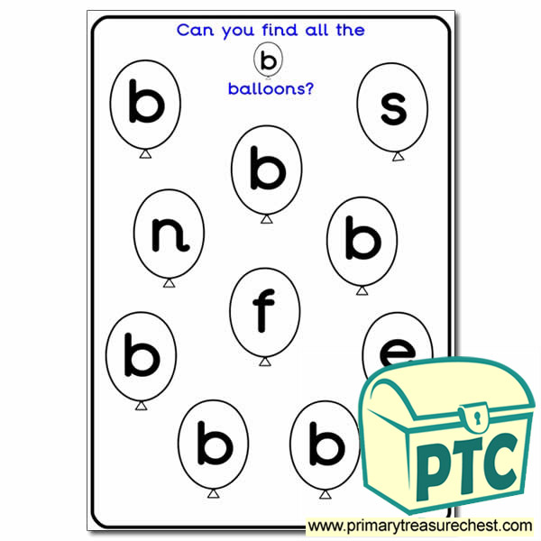 Letter 'b' Themed Hunt, Find It / Text Marking, Lotto