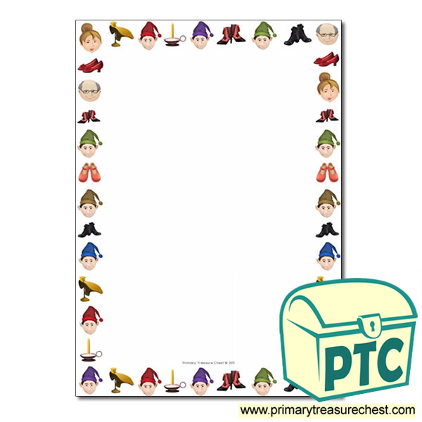 Elves And The Shoemaker Themed Page Border Writing Frame