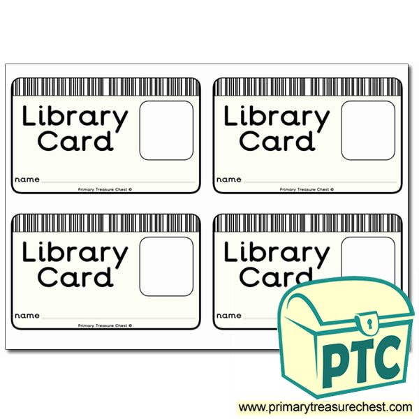 Role Play Library Card Primary Treasure Chest