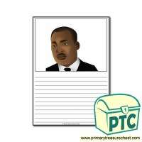 Martin Luther King Jr Worksheet - Primary Treasure Chest
