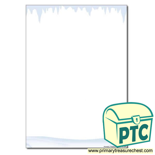 Snow and Ice Themed Page Border / Writing Frame (no lines