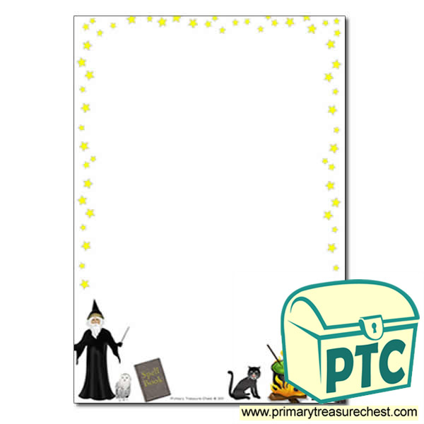 Magic Spell Themed Page Border/Writing Frame (no lines