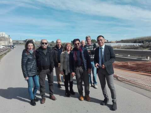 ponte inagibile, Forza Italia presente