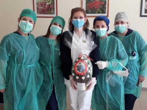 Caltagirone, pensiero di Pasqua agli infermieri dell'ospedale Gravina
