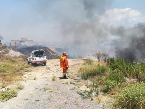 Caltagirone, incendio Bosco Santo Pietro, domenica 5 luglio