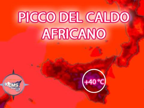 Meteo Caltagirone, picco +40 °C