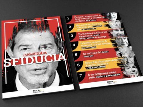 Sfiducia Musumeci, manifesto senza sangue