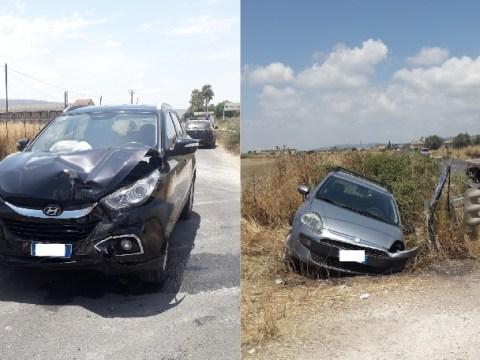 Terribile impatto per due auto sulla Comiso Chiaramonte Gulfi