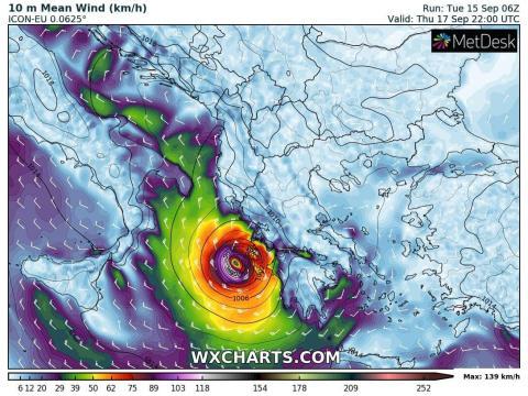 In arrivo il ciclone Udine verso Catania, Ragusa, Siracusa e Messina. Previsti forti temporali, piogge torrenziali e bufere di vento