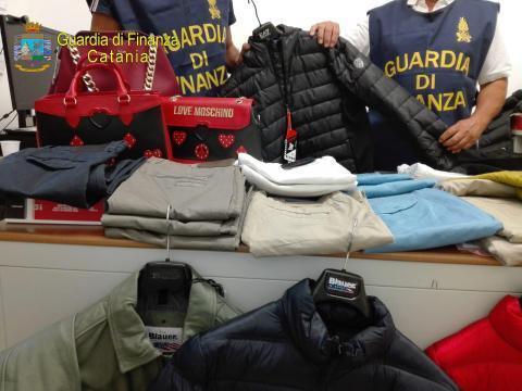 articoli contraffatti, guardia di finanza Catania