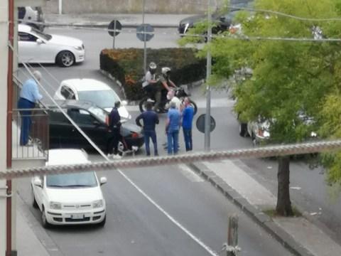 Caltagirone incidente stradale di fronte Città dei Ragazzi