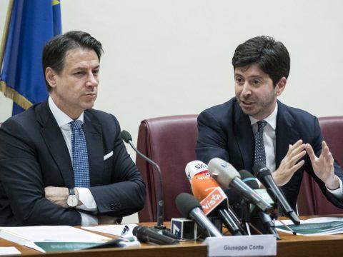 Conte e ministro Speranza