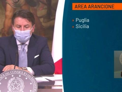 Dpcm Conte restrizioni Sicilia zona arancione