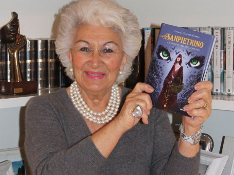 Luisella Traversi Guerra e il romanzo fantasy Sanpietrino e il segreto della Valle Oscura