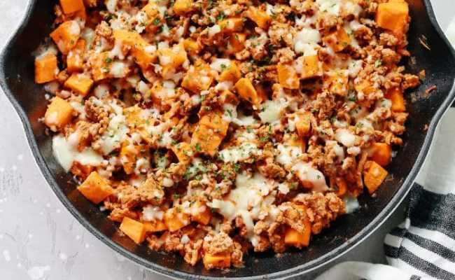 Ground Turkey Sweet Potato Skillet Recipe Primavera Kitchen