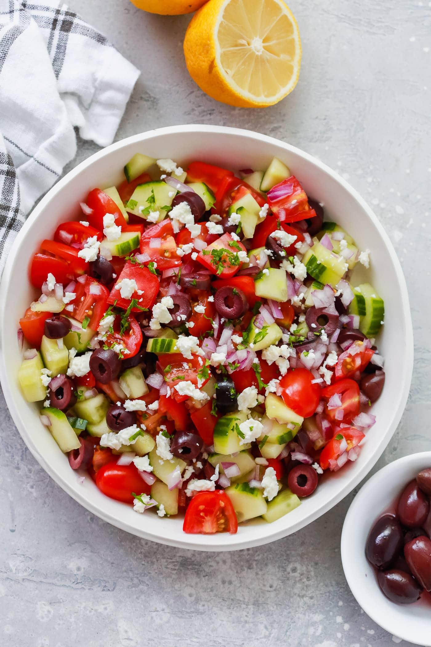 Easy Mediterranean Salad Recipe Primavera Kitchen