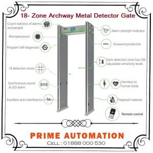 18 zone Walk through Archway Metal Detector Gate