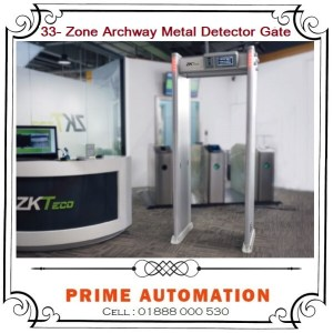 33 zone Walk through Archway Metal Detector Gate