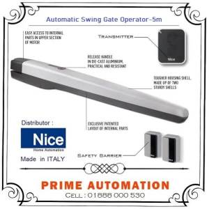 Automatic Swing Gate Operator NICE-TOONA-5M Made in ITALY