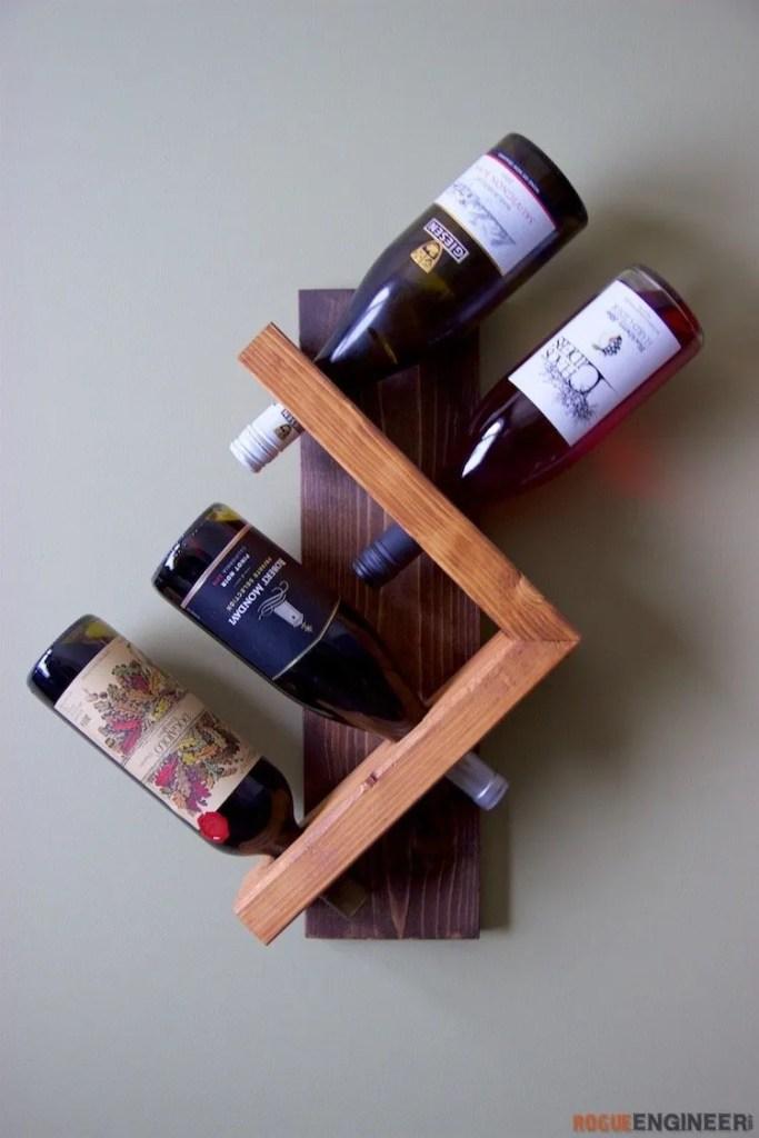 A four bottle wine rack.