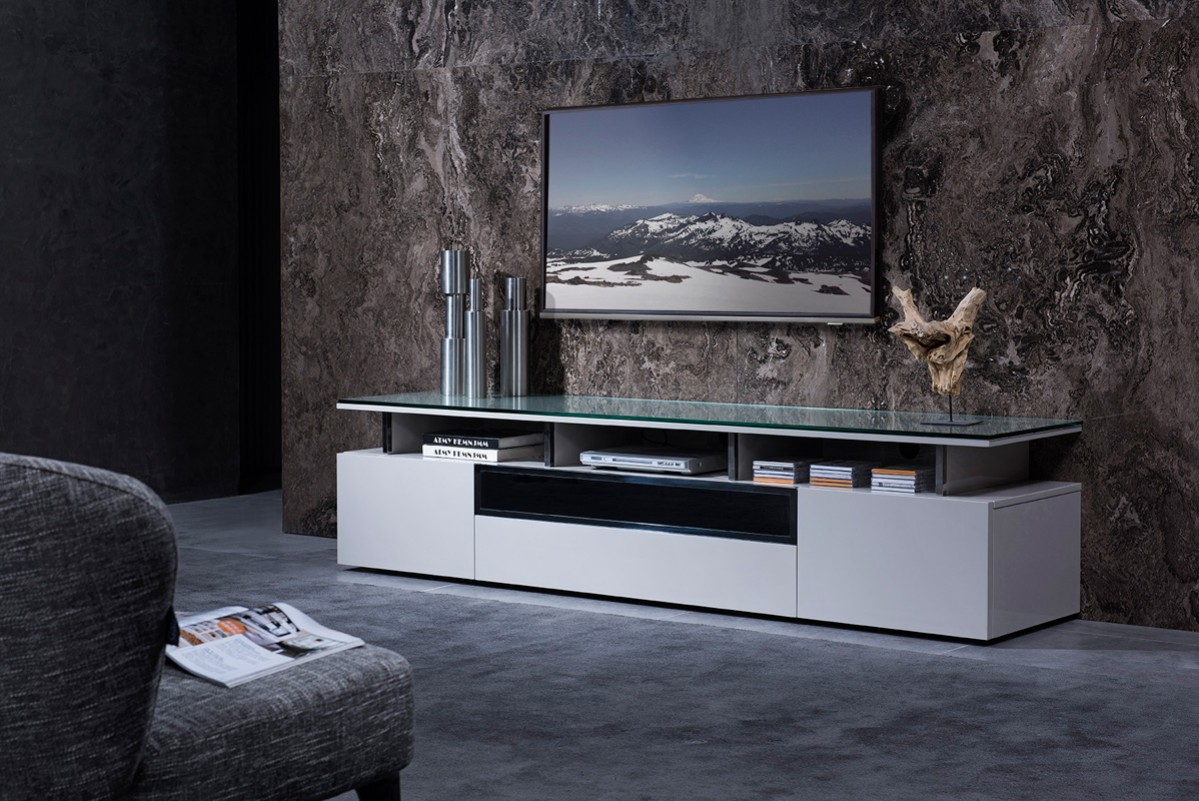 tv stand living room el dorado sets grey lacquer with glass top chicago illinois plasma and lcd stands stylish accessories