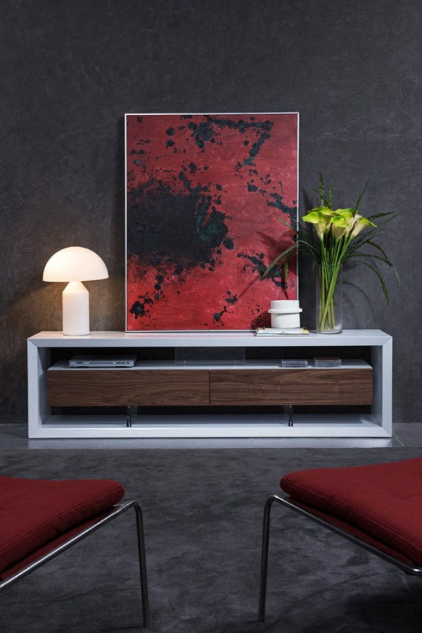 Modern White TV Stands for Flat Screens