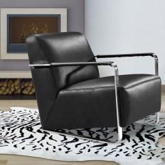 Low Profile Chairs Church Wedding Decorations Modern Black Leather Lounge Chair Kansas