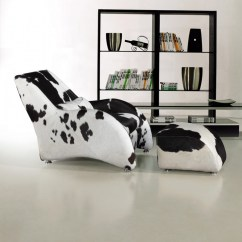 Black And White Cowhide Chair Wicker Seat Cushion Covers Modern California Natural Cow Hide With Ottoman
