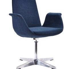 Modern Aluminum Chair West Elm Leather Blue Fabric Base Accent Phoenix