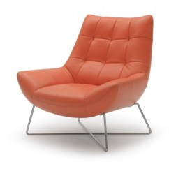 Modern Leather Lounge Chair Office Png Orange And Stainless Steel