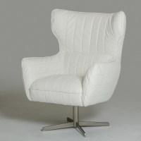 White Leather Swivel Accent Chair Charlotte North Carolina ...