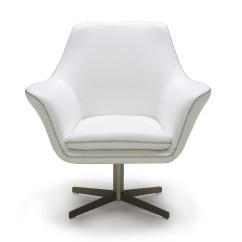 Modern Ball Lounge Chair Design Vitra White Leather Swivel Fort Worth Texas