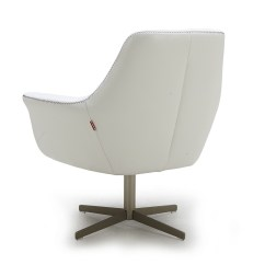 Swivel Chaise Lounge Chair Bathroom Vanity Stools Or Chairs Modern White Leather Fort Worth Texas