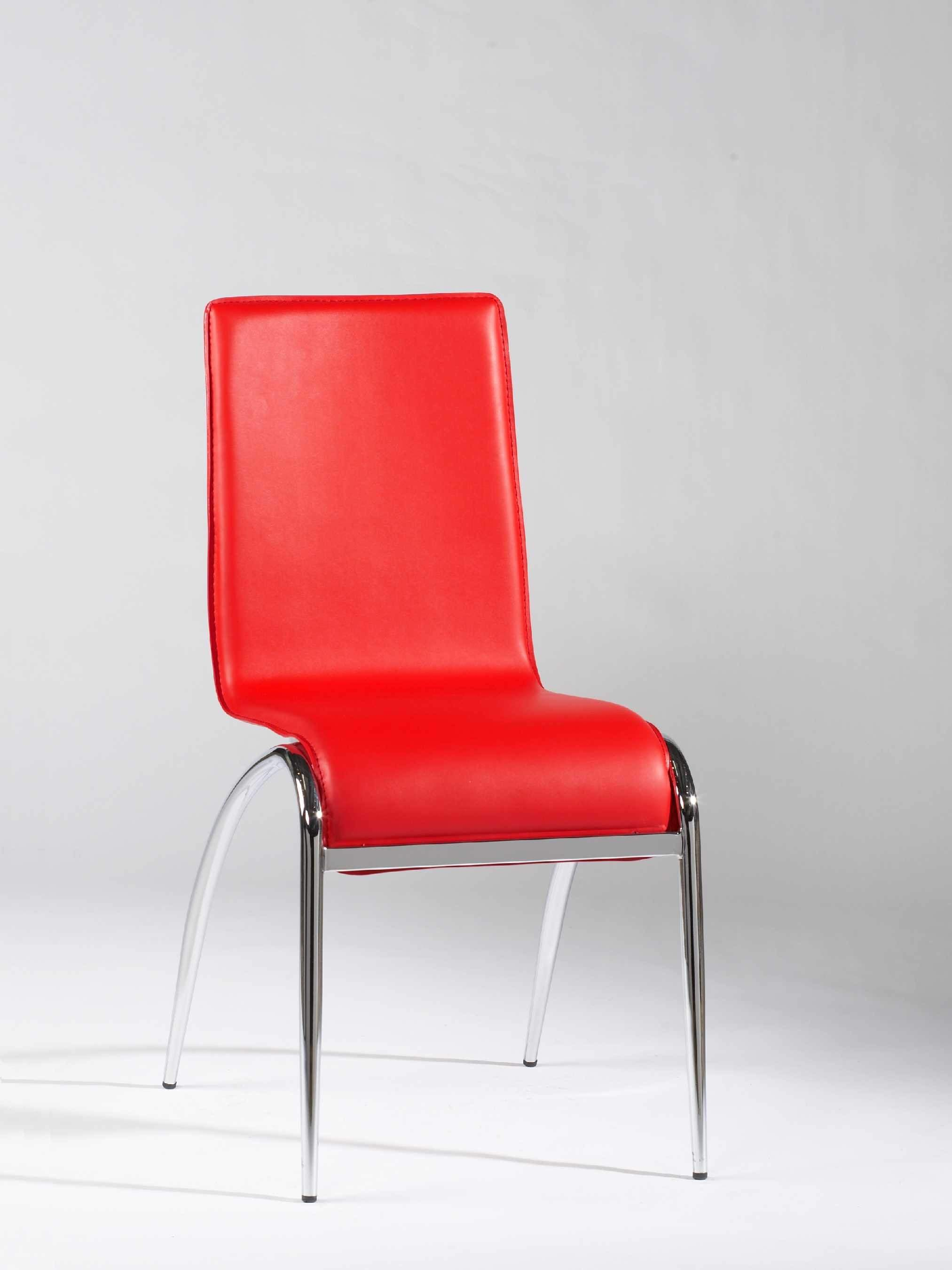 cheap hand chair stylist mats stylish red white black leatherette dining with metal legs contemporary chairs dinette furniture