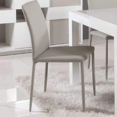 Leather Dining Chairs Modern Rope Chair Swing Stand Contemporary Simple Italian Design In Grey Dinette Furniture