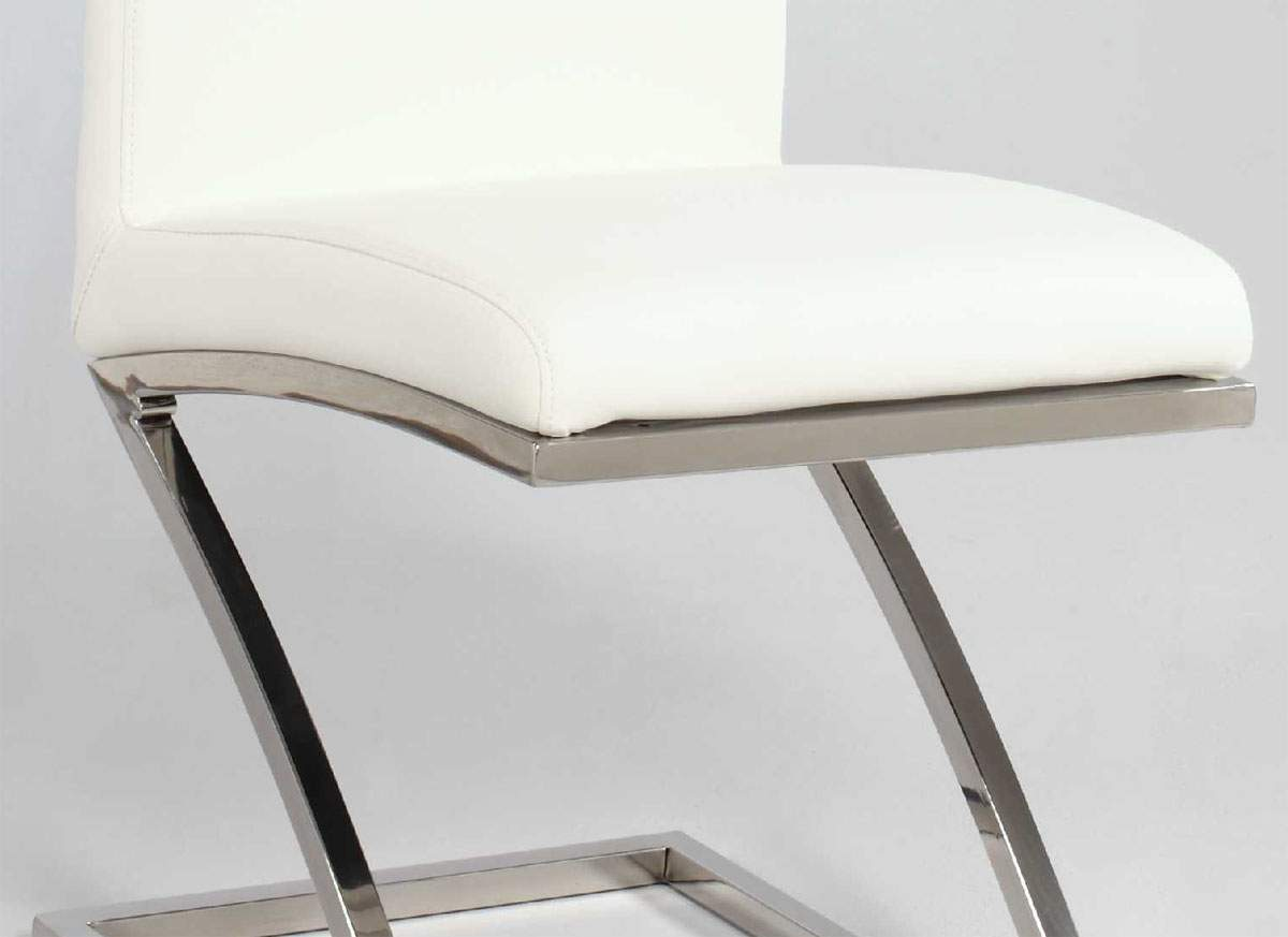 z shaped high chair big joe original bean bag reviews unique zigzag shape leather dining in white and