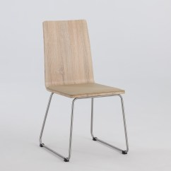 Dining Chairs With Stainless Steel Legs Pushchair Accessories Light Oak Panel Back Side Chair Brushed