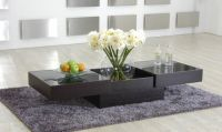 Contemporary Coffee Table with Storage and Glass Top New ...