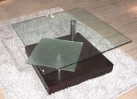 Square Glass Top Contemporary Coffee Table Henderson ...