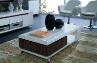 Contemporary White and Walnut Coffee Table Mesa Arizona VZINO