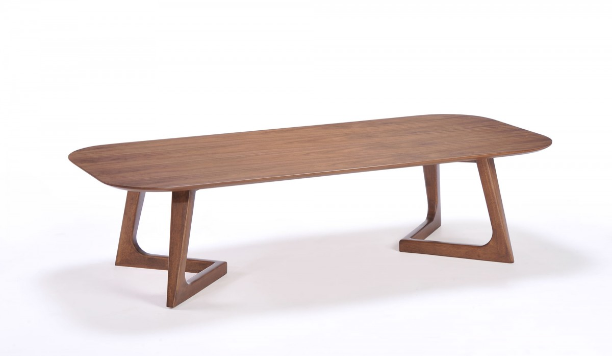Modern Simple Walnut Coffee Table Phoenix Arizona VIG