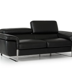Montclair Top Grain Leather Sofa And Loveseat Set Refurbish Singapore Italian Made Black Full