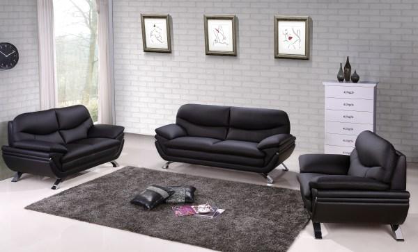Italian Leather Sofa Living Room Furniture