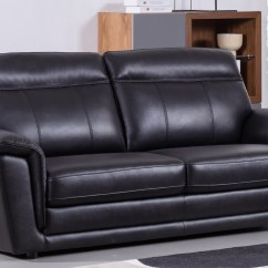 What Can I Use To Clean My Black Leather Sofa Metal Legs Canada Contemporary Living Room Set Finest Genuine Italian
