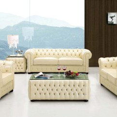 Ivory Sofa Set Macys Bed Italian Leather With Buttons Raleigh North