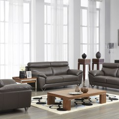 100 Real Leather Corner Sofa Pallet Wood Outdoor Contemporary Stylish 3pc Set With Chrome Legs ...
