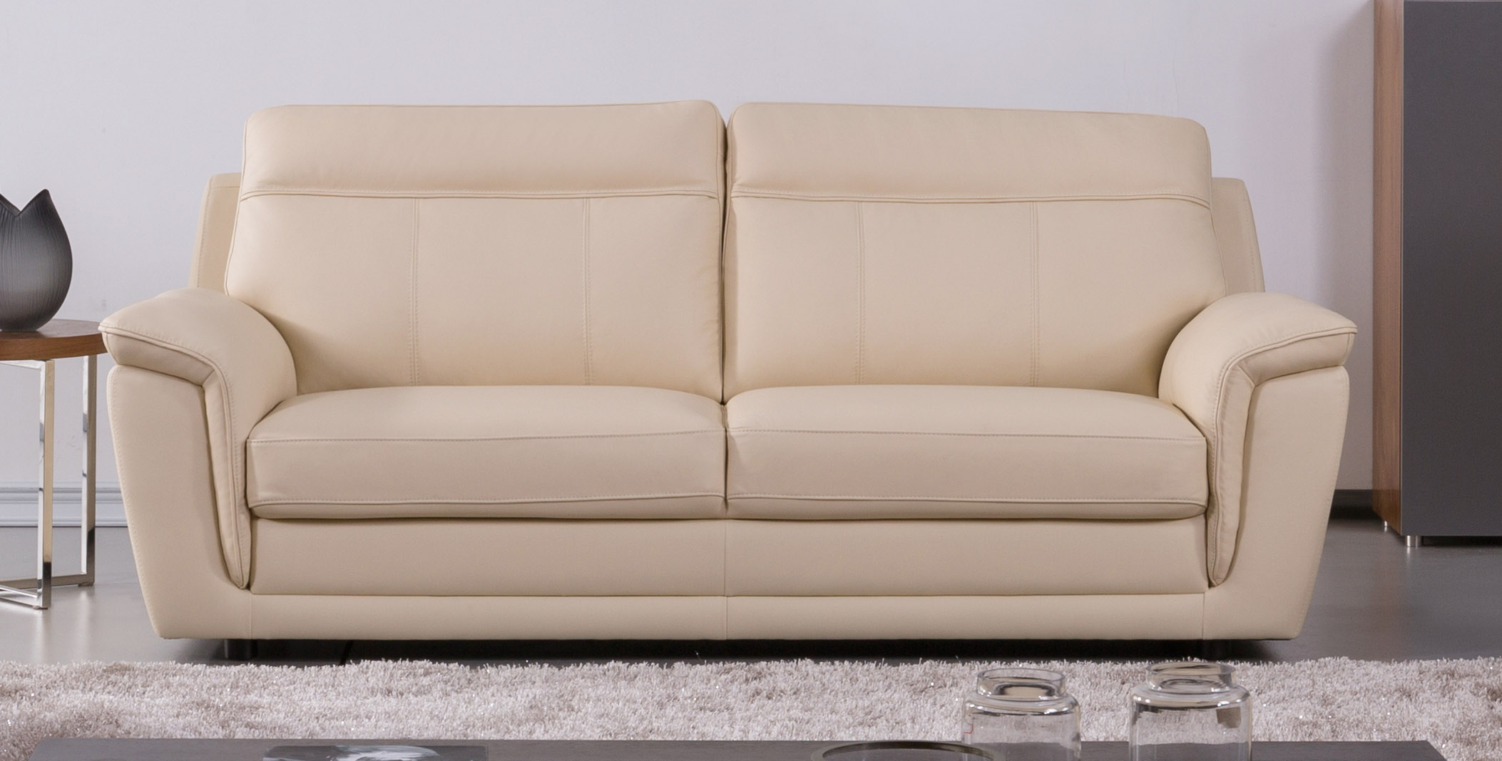 genuine leather sofa sets recliner sofas sale uk italian beige three piece set