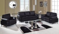 Soft Padded Bonded Leather Contemporary Living Room Set ...