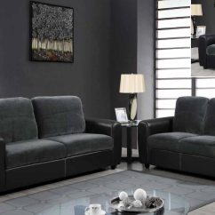 Cheap Sofa Sets In Houston Leather Flip Contemporary Two-toned And Microfiber Upholstered ...