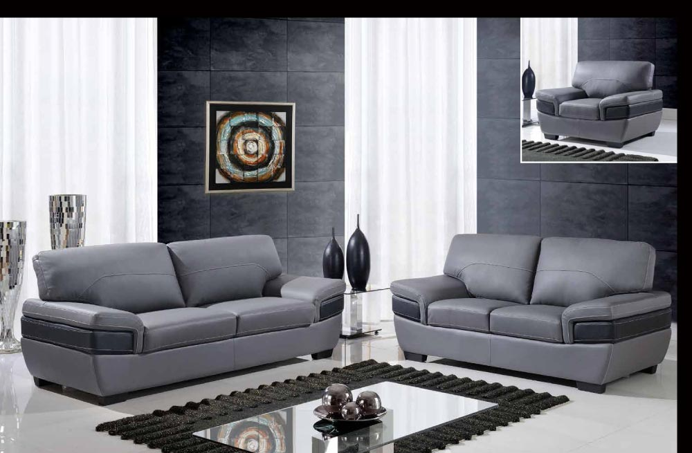 leather corner sofa spain loft tromso bed contemporary dark gray and black three piece ...